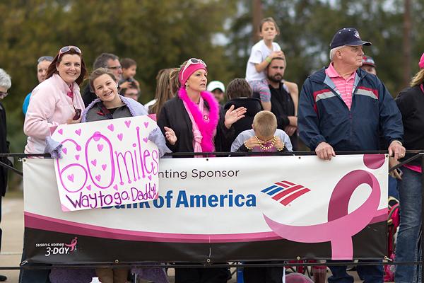 closing spectator 2013 Dallas Fort Worth Susan G. Komen 3-Day breast cancer walk