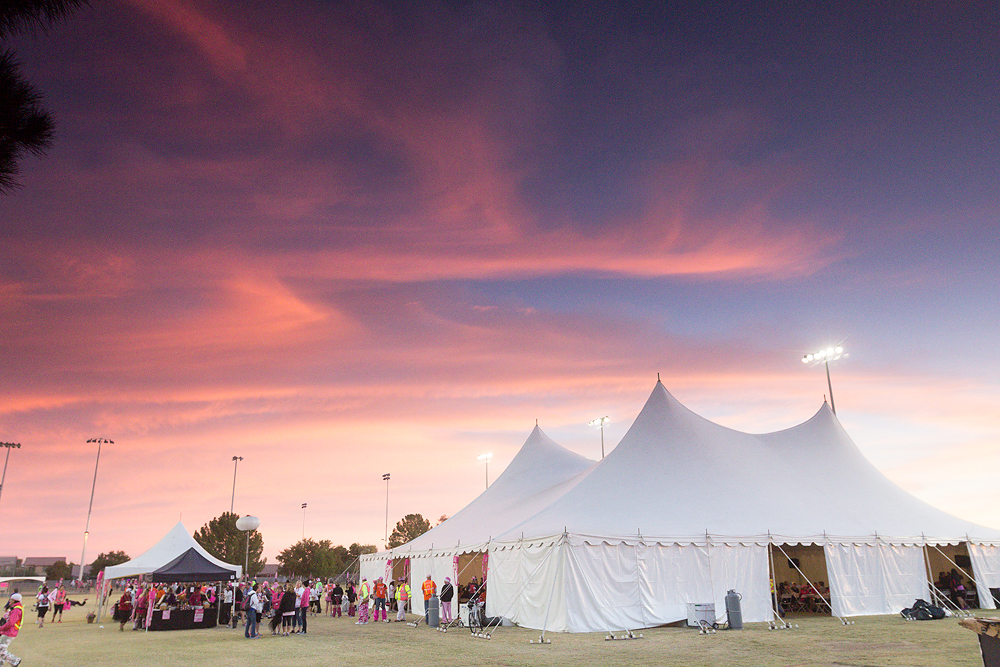 White Tents Sunset Susan G. Komen 3-Day Breast Cancer Walk