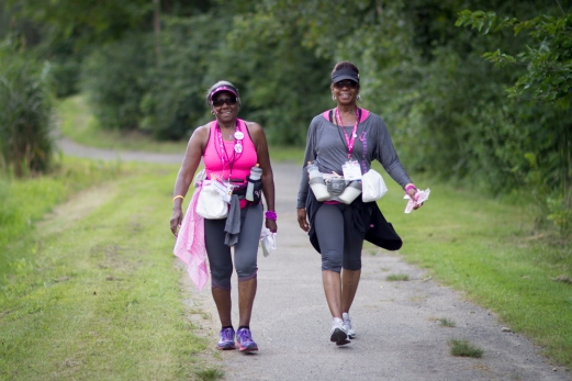 Susan G. Komen walkers gear up and take on Day 2 to find a cure for breast cancer.