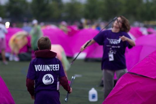 Susan G. Komen 3-Day® walker take on Day 3 for breast cancer awareness.