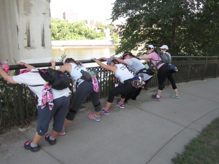 Susan G. Komen 3-Day breast cancer walk stretch