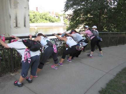 Susan G. Komen 3-Day breast cancer walk stretch