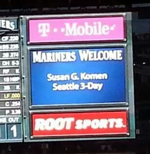 2014 susan g. komen 3-day breast cancer walk seattle mariners