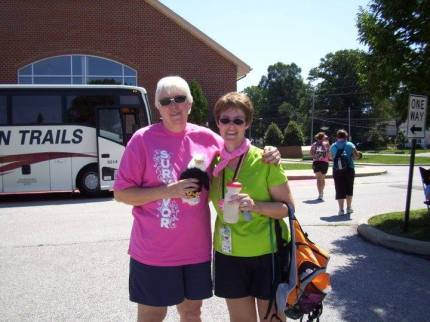 """Carol H. shared, """"My 1st 3-Day ever—Cleveland in 2011. My wonderful friend Sue (on the left) came up and surprised me!"""""""