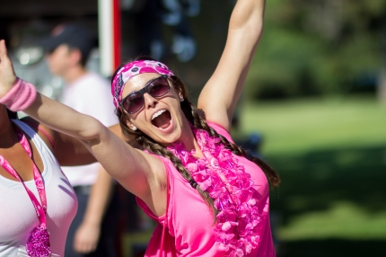 susan g. Komen 3-Day breast cancer walk fundraising excitement