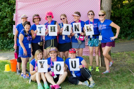 susan g. Komen 3-Day breast cancer walk fundraising gratitude