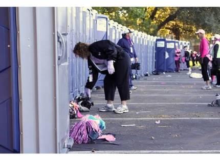 susan g. komen 3-day breast cancer walk pit stop porta potty