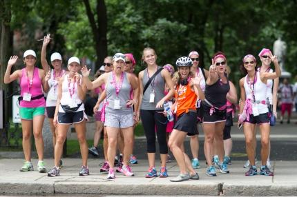 susan g. komen 3-day breast cancer walk street corner stretch