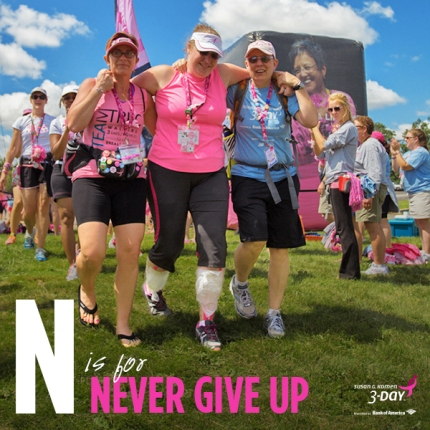 Never Give Up Susan G Komen 3 Day Breast Cancer