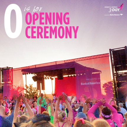 Learn more about the Susan G Komen 3-Day Opening Ceremony in the walk against breast cancer