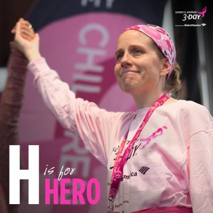 susan g. komen 3-Day breast cancer walk hero