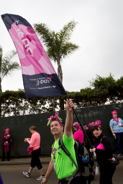 susan g. komen 3-day breast cancer walk reasons why it's great to be a guy on the 3-Day part of the cure