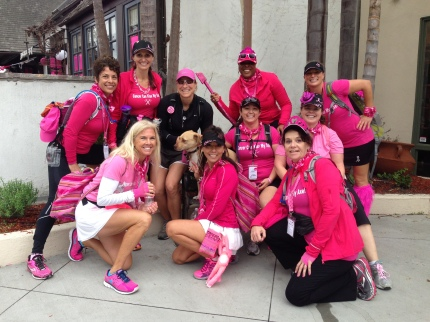 susan g.  komen 3-day breast cancer walk blog lorraine survivor san diego fire department