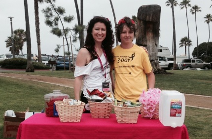 susan g. komen 3-Day breast cancer walk training pit stop