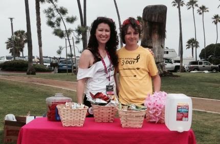 susan g. komen 3-Day breast cancer walk training pit stop