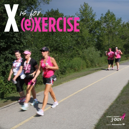 Enjoy exercising and walking 60 miles in the Susan G. Komen 3-Day.