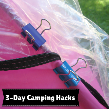 susan g. komen 3-day breast cancer walk blog camping hacks binder clips for tent