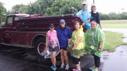 susan g. komen 3-Day breast cancer walk june dallas fort worth pink soles in motion rain training