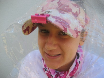 susan g. komen 3-Day breast cancer walks walking hacks binder clip poncho hat