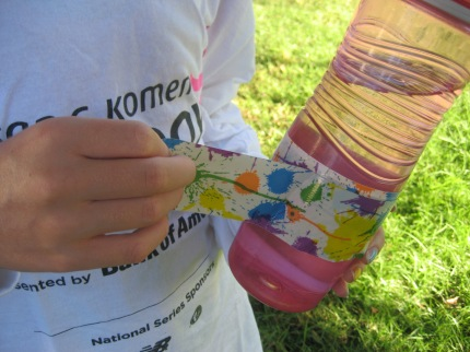 susan g. komen 3-Day breast cancer walks walking hacks duct tape on water bottle