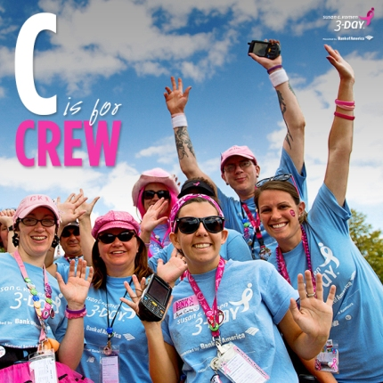 susan g. komen 3-day breast cancer walk crew blog ABCs