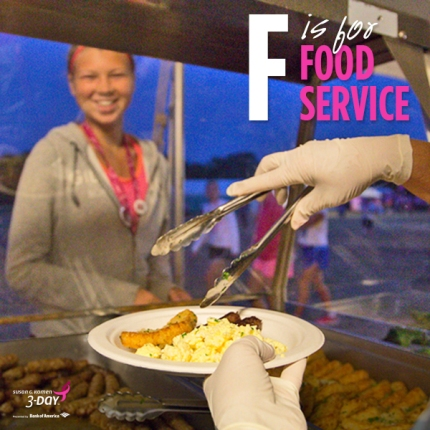 Susan G. Komen 3-Day breast cancer walk ABCs of the 3-Day Crew food service