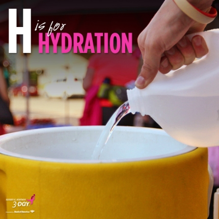 Susan G. Komen 3-Day breast cancer walk ABCs of the 3-Day Crew hydration
