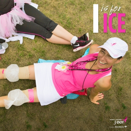 Susan G. Komen 3-Day breast cancer walk ABCs of the 3-Day Crew ice