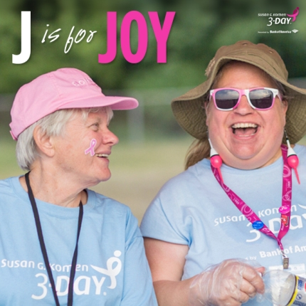 Susan G. Komen 3-Day breast cancer walk ABCs of the 3-Day Crew joy