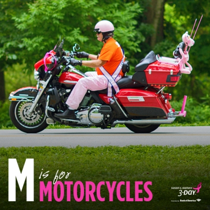 susan g. komen 3-Day breast cancer walk blog ABC's of the 3-Day crew motorcycles