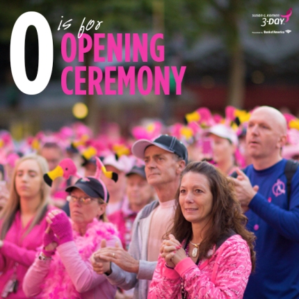 susan g. komen 3-Day breast cancer walk blog ABC's of the 3-Day crew opening ceremony