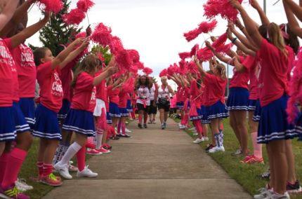 susan g. komen 3-day breast cancer walk blog michigan 2014 day 3 cheerleaders