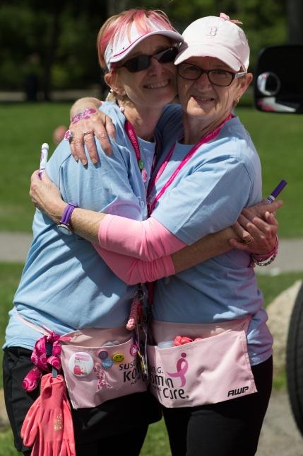 susan g. komen 3-day breast cancer walk michigan day 1 crew sisters