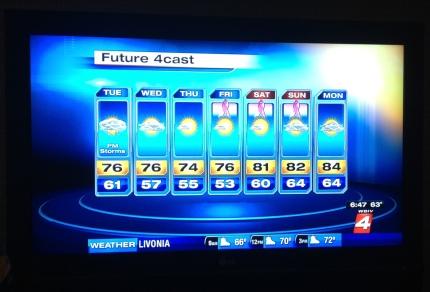 susan g. komen 3-Day breast cancer walk michigan rain wet weather walking tips detroit forecast