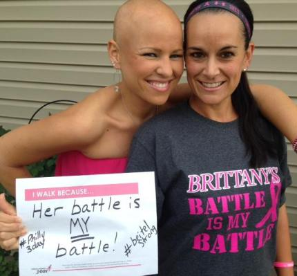 Brittany B and Jackie P Susan G Komen 3 Day Philly Walk to End Breast Cancer