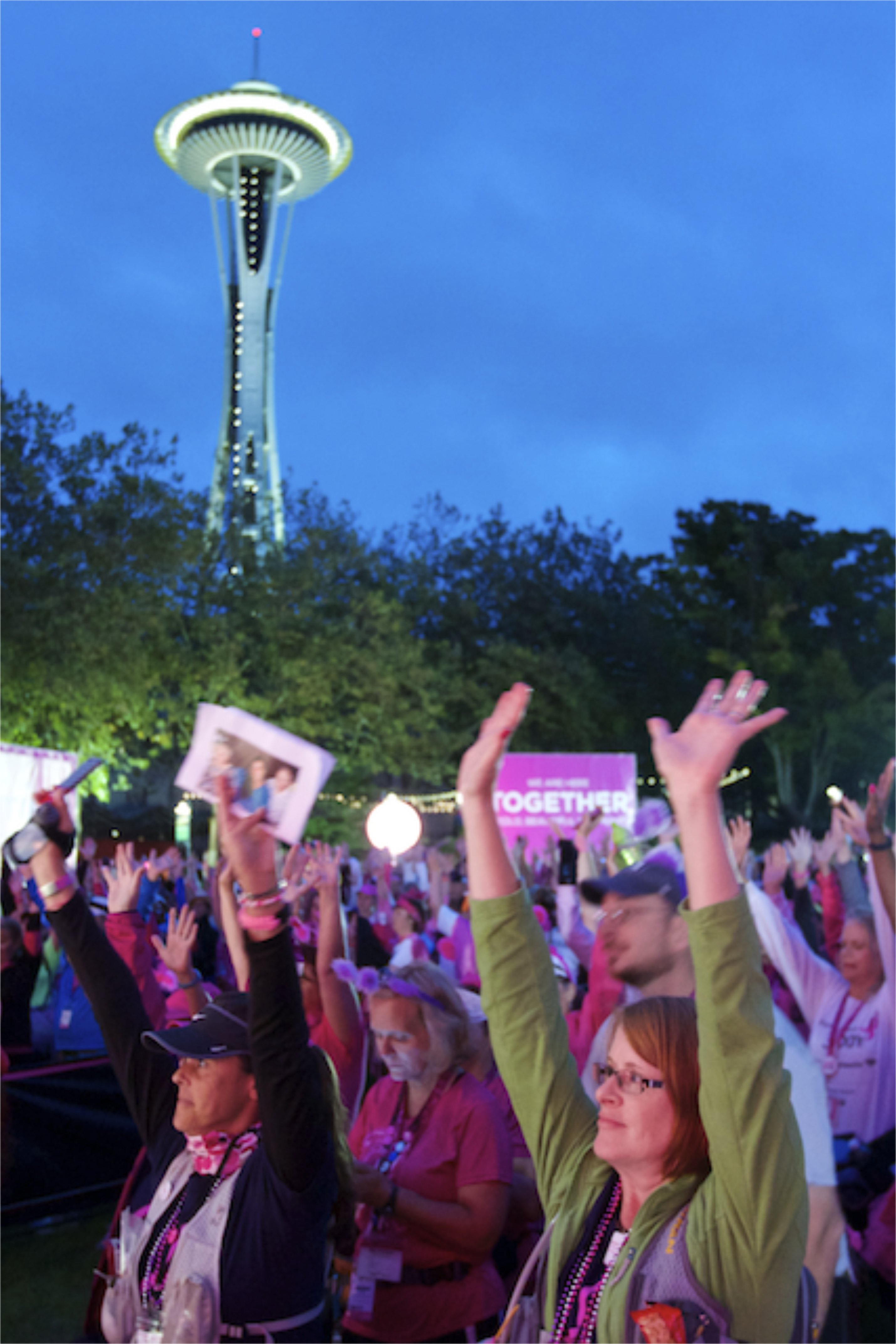 Your Susan G. Komen 3‑Day® journey will begin with an inspiring, emotional Opening Ceremony. You'll walk through the shaded neighborhoods of Seattle's suburbs, and spend two fun-filled nights at our Komen 3‑Day camp, bonding with your fellow walkers.