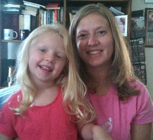 Priscilla and her daughter. Priscilla fights breast cancer so her daughter won't have to. (Photo credit: Priscilla R.)