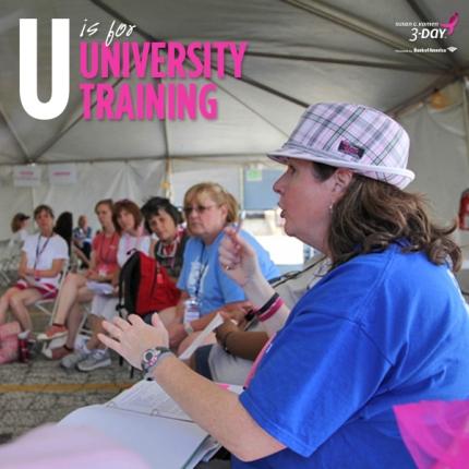 susan g. komen 3-day breast cancer walk crew volunteer university training