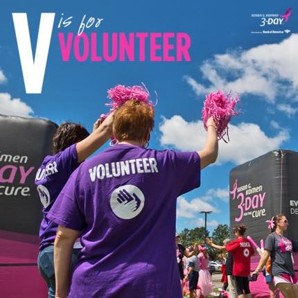 susan g. komen 3-day breast cancer walk crew volunteer