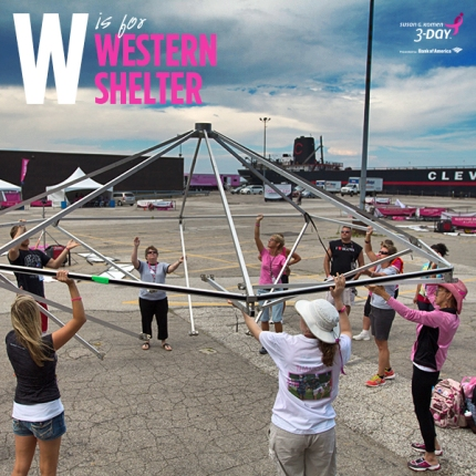 susan g. komen 3-day breast cancer walk crew volunteer western shelter