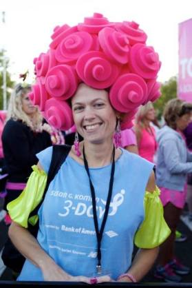 foam hat 3-day crew susan g komen breast cancer walk