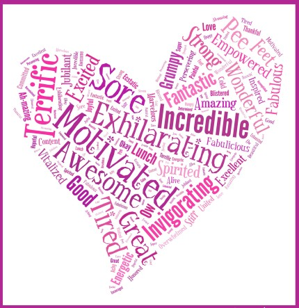 susan g. komen 3-Day breast cancer 60 mile walk blog word cloud dallas fort worth
