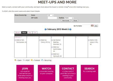 susan g. komen 3-day breast cancer walk blog 60 miles website calendar