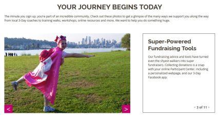 susan g. komen 3-day breast cancer walk blog 60 miles website how we support you