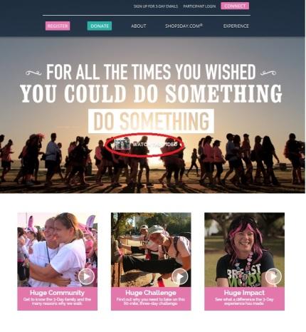 susan g. komen 3-day breast cancer walk blog 60 miles website video