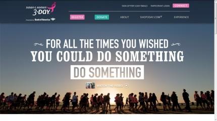 susan g. komen 3-day breast cancer walk blog 60 miles website home page