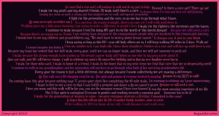 susan g komen 3-day breast cancer walk blog why i'm coming back 60 miles 2015