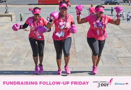 susan g. komen 3-Day breast cancer walk blog fundraising follow-up friday