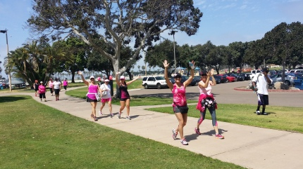 susan g. komen 3-Day breast cancer walk blog training meet-up 2015 may san diego