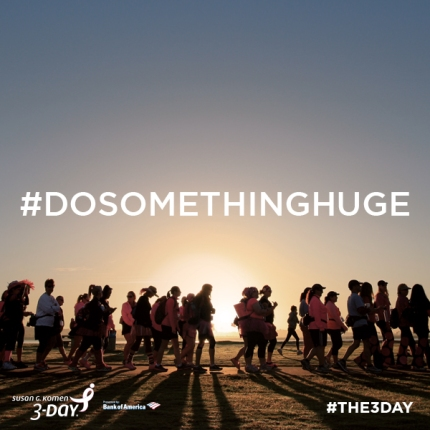 susan g. komen 3-Day breast cancer walk blog instagram photo challenge #dosomethinghuge